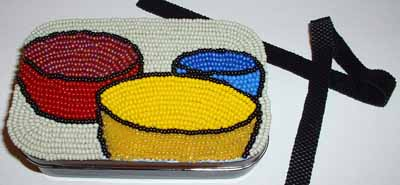 Bead pictures can be mounted on boxes.