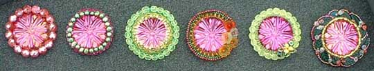 Beaded cabochon brooches are a free beading project.