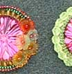 Six beaded brooches preview