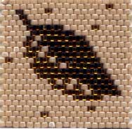Delica Beads Woven in a Peyote Pattern