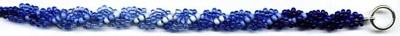 Seed Bead Spiral Rope in Gradient Blues