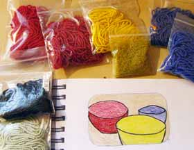 Colored Drawing with Selected Seed Beads