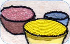 Partly Embroidered Bead Picture