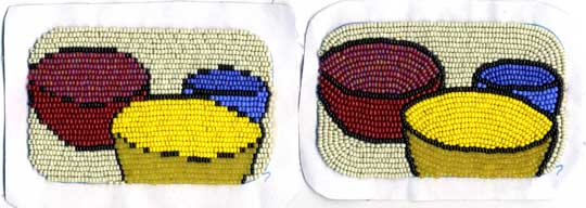 comparison of bead pictures from Bead Embroidery 101 and 102