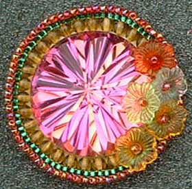 Beaded Cabochon by Virginia Brubaker