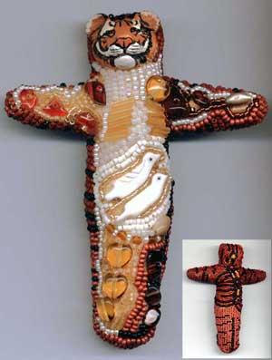 Beaded Tiger Doll by Virginia Brubaker