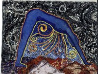 The Goddess Who Weaves the Night Sky - beadwork by Virginia Brubaker